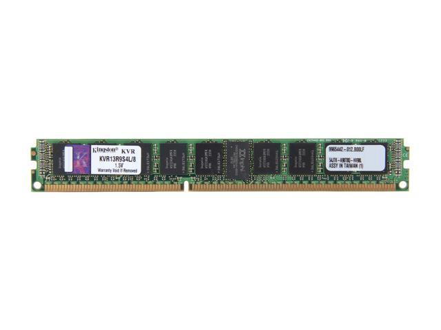 Kingston 8GB 240-Pin DDR3 SDRAM ECC Registered DDR3 1333 Server Memory SR x4 w/TS VLP Model KVR13R9S4L/8