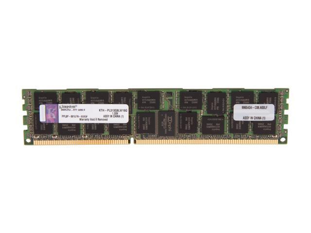 Kingston 16GB 240-Pin DDR3 SDRAM ECC Registered DDR3 1333 (PC3 10666) Server Memory Model KTH-PL313Q8LV/16G