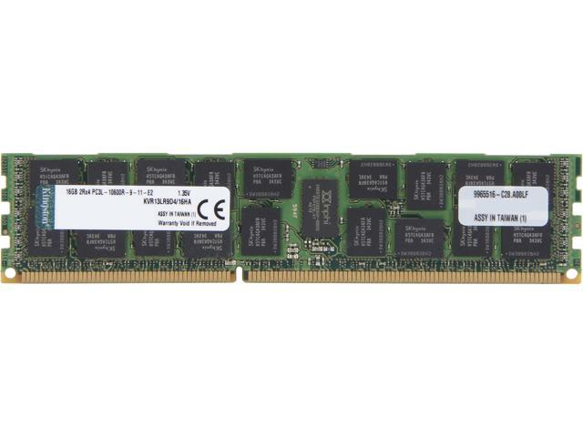 Kingston 16GB 240-Pin DDR3 SDRAM ECC Registered DDR3 1333 Server Memory (Server Hynix A) Model KVR13LR9D4/16HA