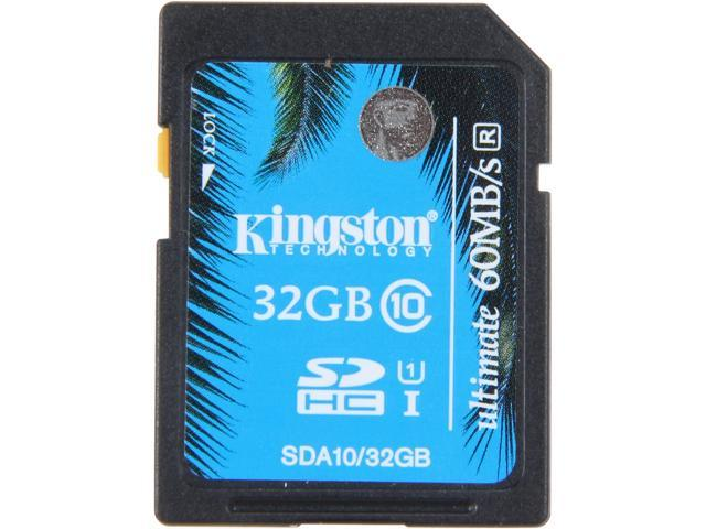 Kingston 32GB Secure Digital High-Capacity (SDHC) Ultimate Flash Card Model SDA10/32GB