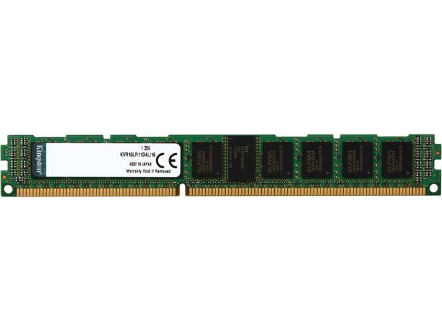 Kingston ValueRAM 16GB 240-Pin DDR3 SDRAM ECC Registered DDR3 1600 (PC3 12800) Server Memory Model KVR16LR11D4L/16
