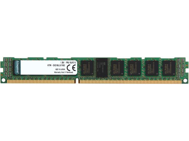 Kingston 16GB 240-Pin DDR3 SDRAM DDR3 1600 (PC3 12800) ECC Registered System Specific Memory Model KTM-SX316LLV/16G
