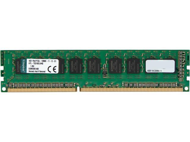 Kingston 4GB 240-Pin DDR3 SDRAM ECC DDR3 1600 (PC3 12800) Low Voltage Server Memory Model KTL-TS316ELV/4G