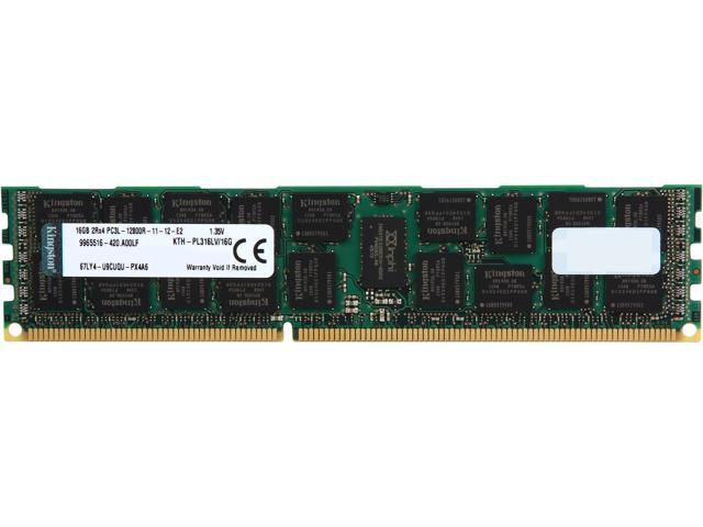 Kingston 16GB ECC Registered DDR3 1600 (PC3 12800) Server Memory Model KTH-PL316LV/16G