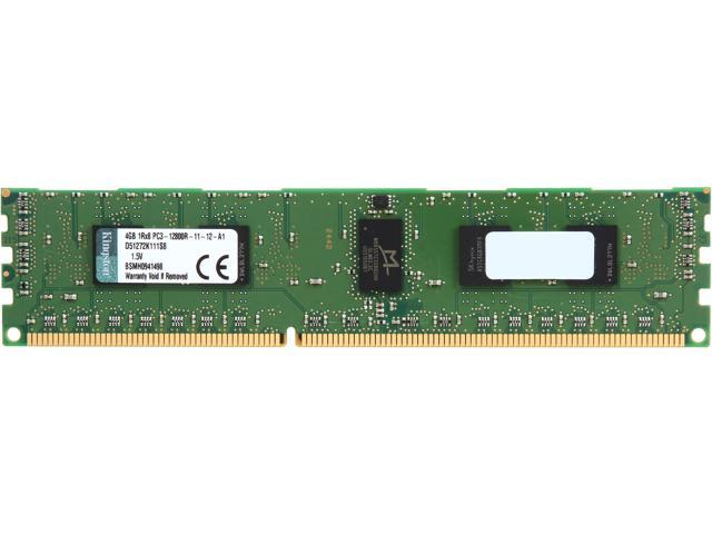 Kingston 4GB 240-Pin DDR3 SDRAM ECC Registered DDR3 1600 (PC3 12800) Single Rank Server Memory Model D51272K111S8