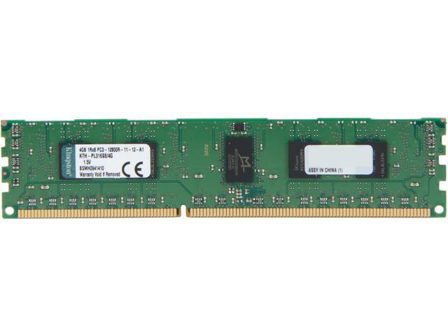 Kingston 4GB 240-Pin DDR3 SDRAM ECC Registered DDR3 1600 (PC3 12800) Single Rank Server Memory Model KTH-PL316S8/4G