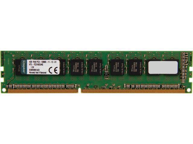 Kingston 4GB 240-Pin DDR3 SDRAM ECC DDR3 1600 (PC3 12800) Single Rank Server Memory Model KTL-TC316ES/4G
