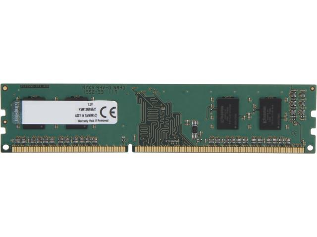 Kingston 2GB 240-Pin DDR3 SDRAM DDR3 1333 (PC3 10600) Desktop Memory Model KVR13N9S6/2
