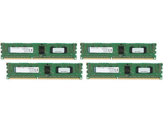 Kingston 16GB (4 x 4GB) 240-Pin DDR3 SDRAM ECC Registered DDR3 1600 (PC3 12800) Server Memory Model KVR16R11S8K4/16I