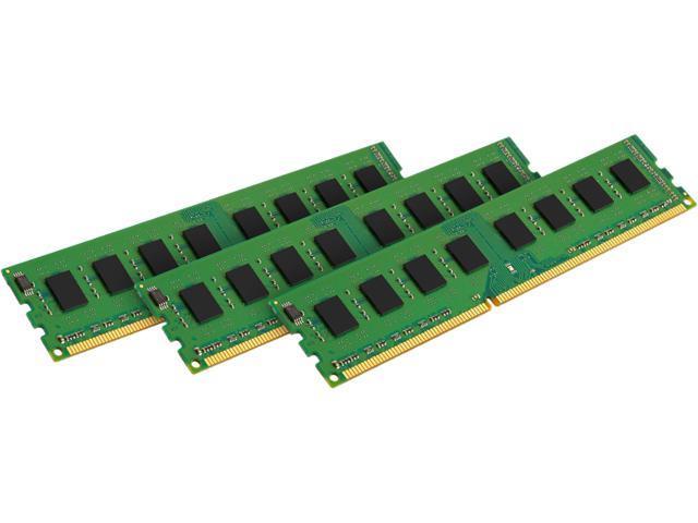 Kingston 24GB (3 x 8GB) 240-Pin DDR3 SDRAM ECC DDR3 1600 (PC3 12800) Server Memory Model KVR16LE11K3/24