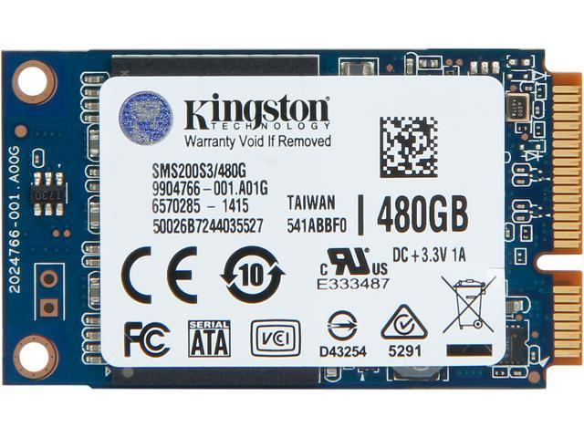 Kingston SSDNow mS200 mSATA 480GB SATA 6Gb/s Internal Solid State Drive (SSD) SMS200S3/480G