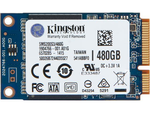 Kingston SSDNow mS200 mSATA 480GB SATA 6Gb/s Internal Solid State Drive (SSD) SMS200S3/480G