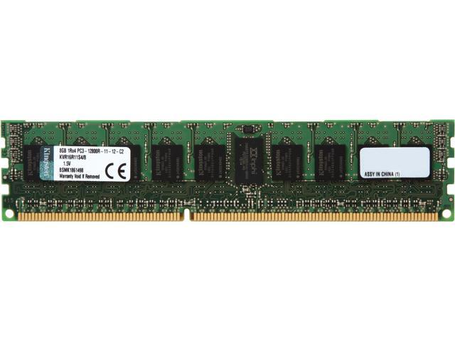 Kingston 8GB ECC Registered DDR3 1600 (PC3 12800) Server Memory Model KVR16R11S4/8