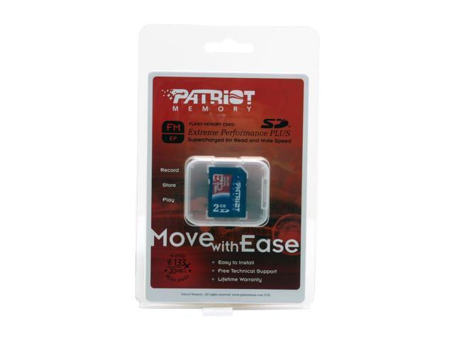 Patriot Extreme Performance 2GB Secure Digital (SD) Flash Card Model PEF2G133SD
