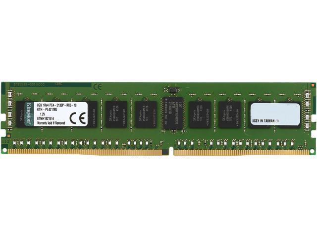 Kingston 8GB 288-Pin DDR4 SDRAM ECC Registered DDR4 2133 (PC4 17000) Server Memory Model KTH-PL421/8G