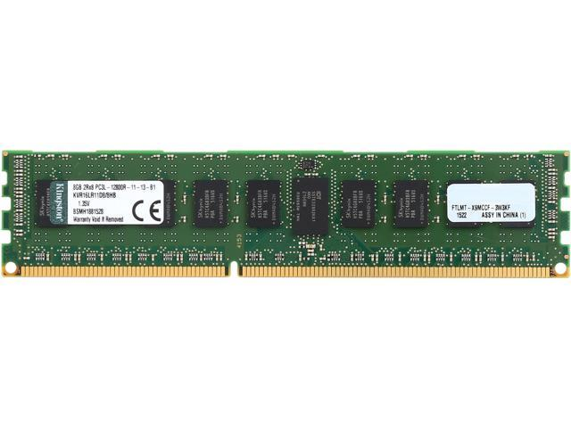 Kingston 8GB ECC Registered DDR3L 1600 (PC3L 12800) Server Memory Model KVR16LR11D8/8HB