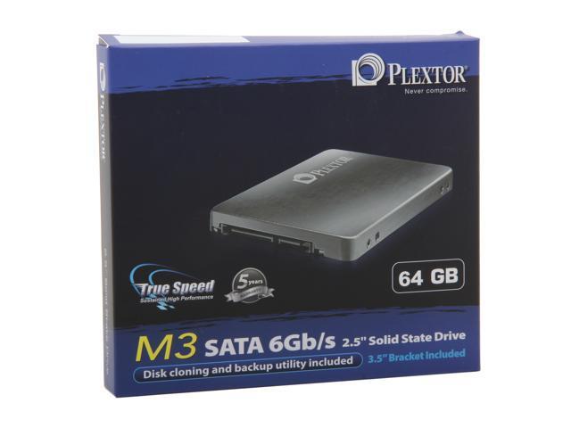 """Plextor M3 Series 2.5"""" 64GB SATA III MLC Internal Solid State Drive (SSD) PX-64M3"""
