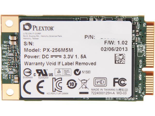Plextor M5M 256GB Mini-SATA (mSATA) MLC Internal Solid State Drive (SSD) PX-256M5M