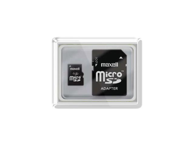 Maxell 4 GB MicroSD High Capacity (microSDHC) - 1 Card