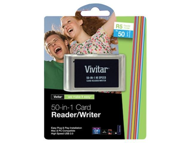 Vivitar RW-50 50-in-1 USB 2.0 Flash Reader/Writer