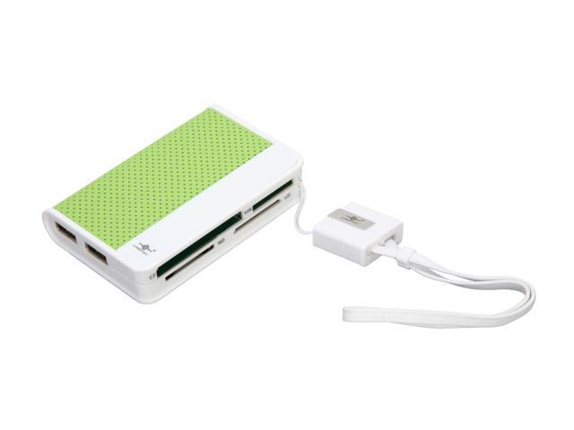 VANTEC UGT-CH100-GR 66-in-1 USB 2.0 Green Card Reader & Hub