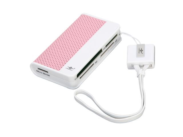 Vantec Culore Portable Hi-Speed USB 2.0 Support SD/ MS/ CF/ MMC/ MicroSD/ xD  66-in-1 External Card Reader/ Writer - Model ...