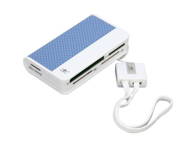 VANTEC Culore UGT-CR100-BL 66-in-1 USB 2.0 Blue Card Reader / Writer