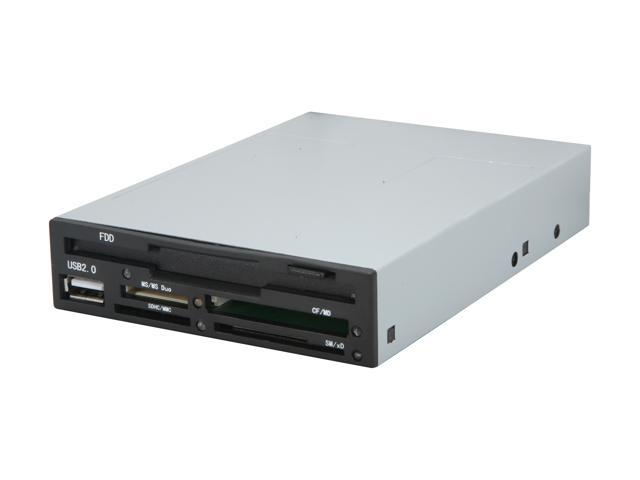 SABRENT CRW-FLP2 All-in-one USB 2.0 Floppy Drive and 68in1 Internal Memory Card Reader & Writer - SDHC/VISTA