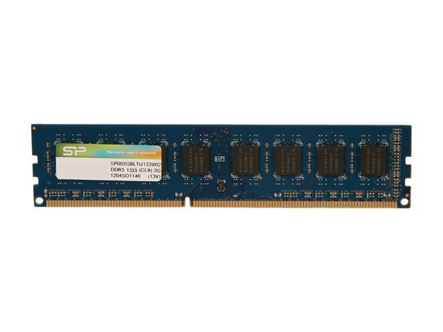 Silicon Power 2GB 240-Pin DDR3 SDRAM DDR3 1333 (PC3 10600) Desktop Memory Model SP002GBLTU133V02