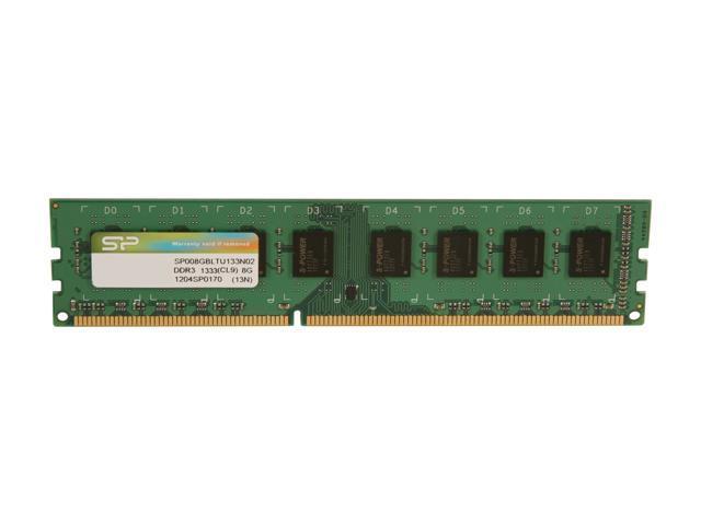 Silicon Power 8GB 240-Pin DDR3 SDRAM DDR3 1333 (PC3 10600) Desktop Memory Model SP008GBLTU133N02
