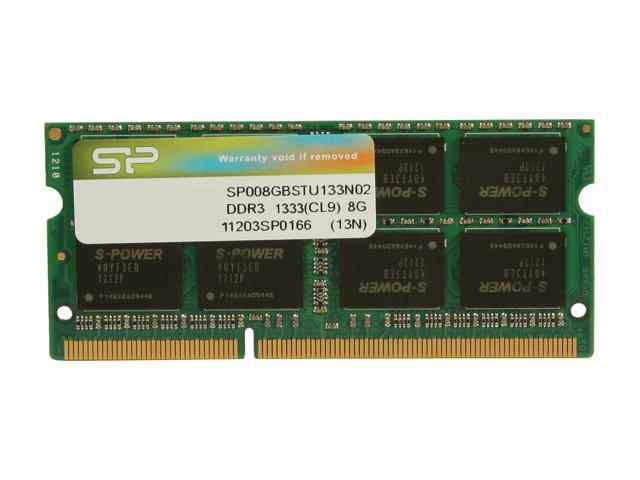 Silicon Power 8GB 204-Pin DDR3 SO-DIMM DDR3 1333 (PC3 10600) Laptop Memory Model SP008GBSTU133N02
