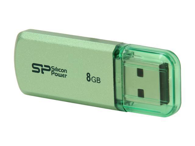 Silicon Power Helios 101 8GB USB 2.0 Flash Drive (Green) Model SP008GBUF2101V1N
