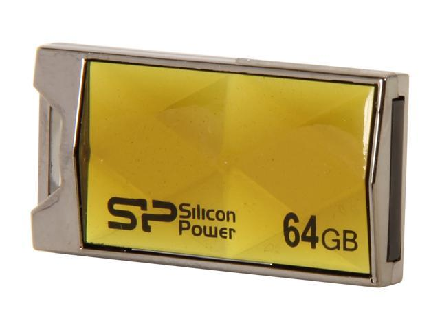 Silicon Power Touch 850 64GB Waterproof USB 2.0 Flash Drive Model SP064GBUF2850V1A