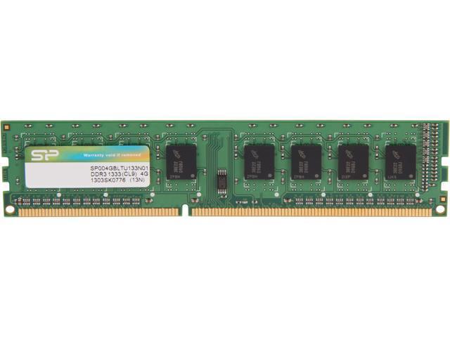 Silicon Power 4GB 240-Pin DDR3 SDRAM DDR3 1333 (PC3 10600) Desktop Memory Model SP004GBLTU133N01