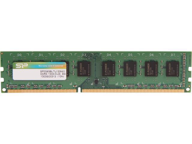 Silicon Power 8GB 240-Pin DDR3 SDRAM DDR3 1333 (PC3 10600) Desktop Memory Model SP008GBLTU133N01