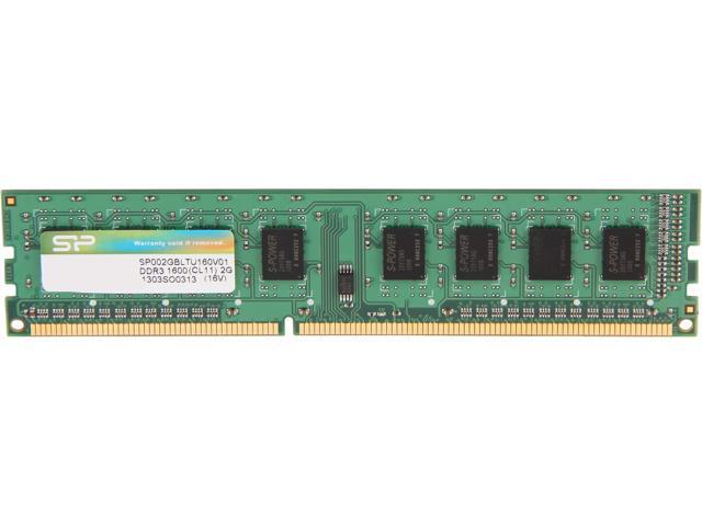 Silicon Power 2GB 240-Pin DDR3 SDRAM DDR3 1600 (PC3 12800) Desktop Memory Model SP002GBLTU160V01