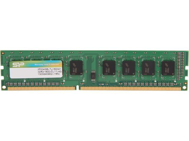 Silicon Power 4GB 240-Pin DDR3 SDRAM DDR3 1600 (PC3 12800) Desktop Memory Model SP004GBLTU160N01