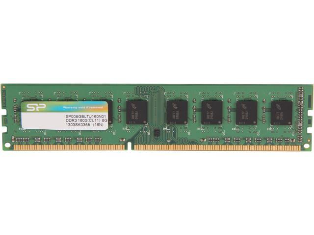 Silicon Power 8GB 240-Pin DDR3 SDRAM DDR3 1600 (PC3 12800) Desktop Memory Model SP008GBLTU160N01