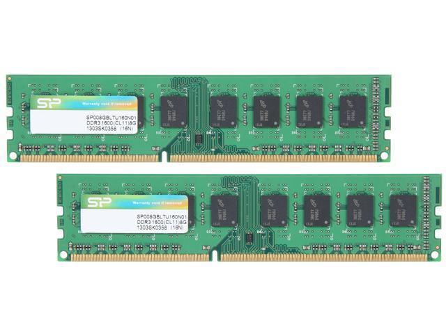 Silicon Power 16GB (2 x 8GB) 240-Pin DDR3 SDRAM DDR3 1600 (PC3 12800) Desktop Memory Model SP016GBLTU160N21