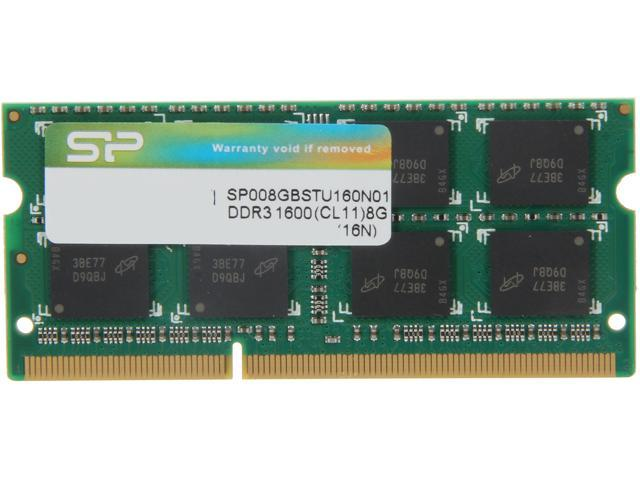 Silicon Power 8GB 204-Pin DDR3 SO-DIMM DDR3 1600 (PC3 12800) Laptop Memory Model SP008GBSTU160N01