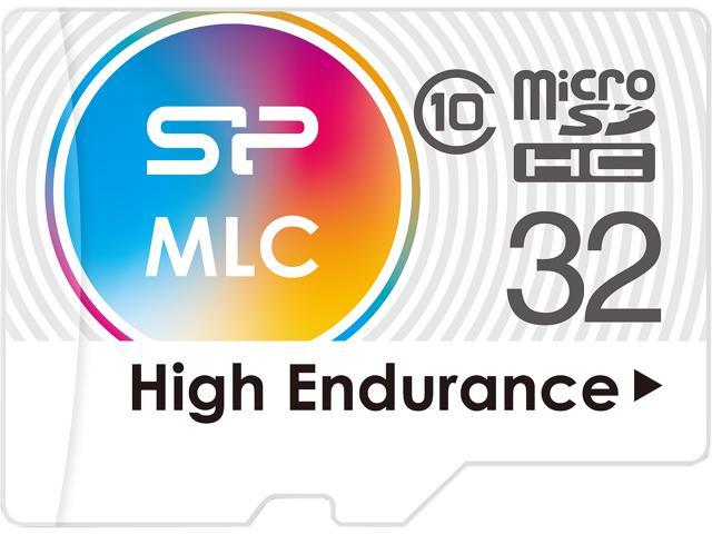 Silicon Power 32GB High Endurance MLC MicroSDHC Memory Card, Ideal for Dash Cam and Security Camera, with Adapter (SP032GBSTXIU3V10SP)