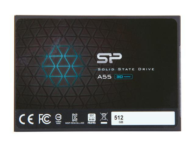 101.99 - Silicon Power Ace A55 2.5 512GB SATA III 3D NAND Internal Solid State Drive SSD SU512GBSS3A55S25NE