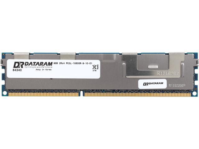 Dataram 8GB 240-Pin DDR3 SDRAM DDR3 1333 (PC3 10600) ECC Registered System Specific Memory Model DRIX1333RL/8GB