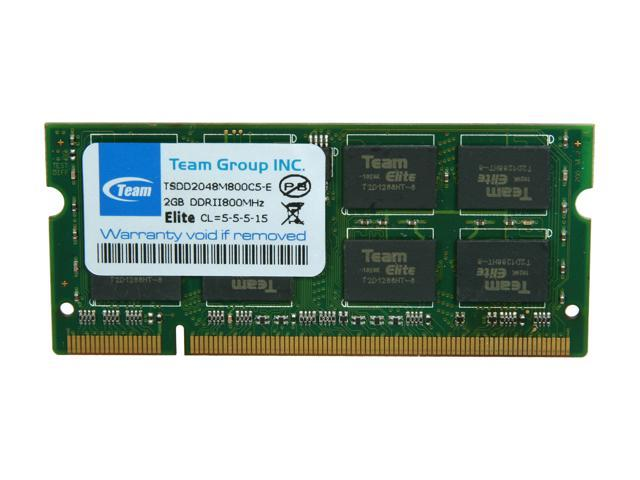 Team 2GB 200-Pin DDR2 SO-DIMM DDR2 800 (PC2 6400) Laptop Memory Model TSDD2048M800C5-E