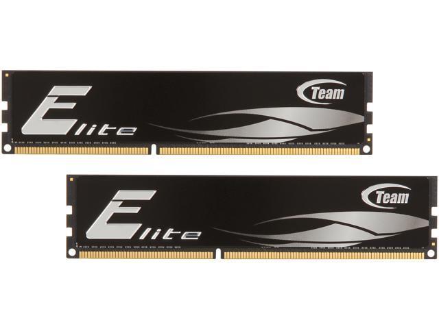 Team Elite 4GB (2 x 2GB) 240-Pin DDR3 SDRAM DDR3 1333 (PC3 10660) Desktop Memory Model TED34096M1333HC9DC