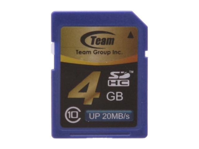Team 4GB Secure Digital High-Capacity (SDHC) Flash Card Model TG004G0SD28X