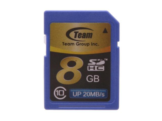 Team 8GB Secure Digital High-Capacity (SDHC) Flash Card Model TG008G0SD28X