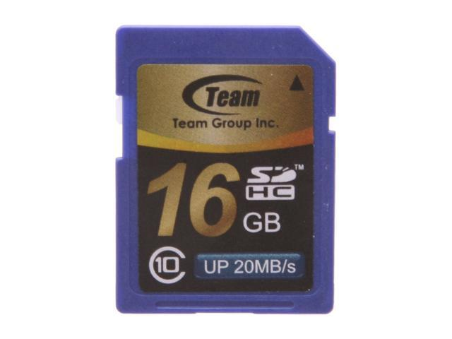 Team 16GB Secure Digital High-Capacity (SDHC) Flash Card Model TG016G0SD28X