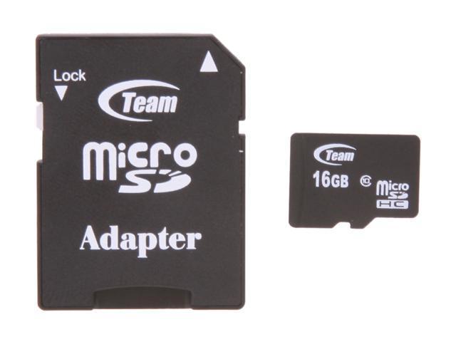 Team 16GB microSDHC Flash Card Model TG016G0MC28A
