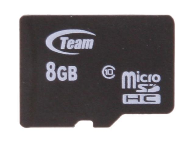 Team 8GB microSDHC Flash Card (Card Only) Model TG008G0MC28X